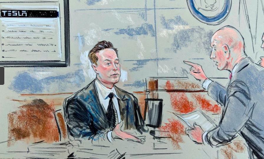 Elon Musk och Tesla i Rättegång