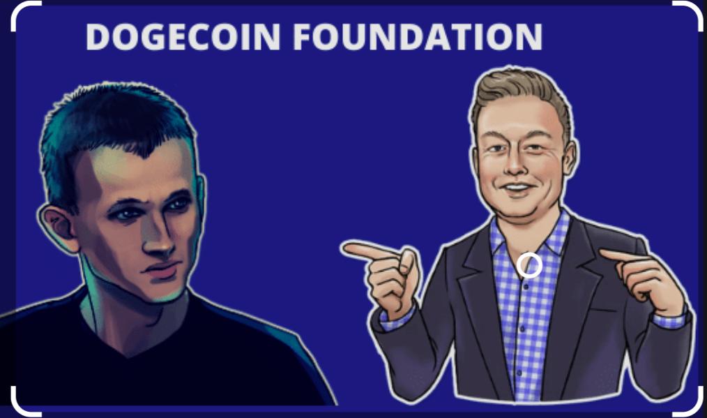 Elon Musk och Vitalik Buterin i Dogecoin Foundation