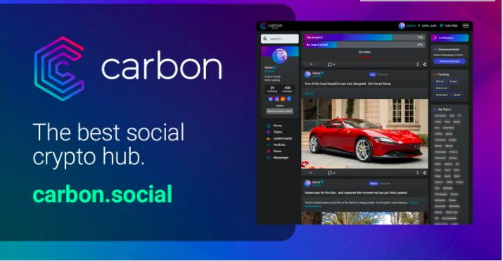 Carbon – Kryptovärldens Egna Sociala Media Lanserad